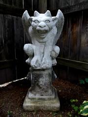Lucretia (Gerri Gray Photography) Tags: strange monster stone garden weird gothic goth evil eerie creepy gargoyle demon devil demonic winged