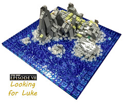 Star Wars Episode VII- Looking for Luke (samiam391) Tags: ocean island star starwars lego luke 7 millennium micro legos falcon wars episode vii skywalker episodevii lookingforluke