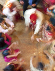 Dancing at an Indian Wedding (crabsandbeer (Kevin Moore)) Tags: wedding party people motion blur color happy dance movement colorful dancing action pov indian baltimore celebration motionblur tradition hindu hindi birdseye
