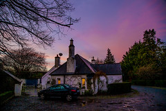 Emo,Co. Laois (cmwild31) Tags: pink blue trees ireland red sky countryside country emo cottage 150 years laois