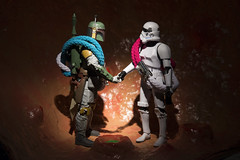 Boba Fett + The Sarlacc 52 - World Cancer Day 2016 (Mac Spud) Tags: world uk starwars cancer science research stormtrooper bobafett medicine sarlacc greatpitofcarkoon unityband