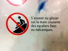 This Is Why We Can't Have Fun (Coastal Elite) Tags: stairs warning subway fun moving hand montréal metro montreal main métro escalator stock teenagers roulant rail slide rules staircase walkway figure stickfigure stick handrail stm escalators sliding mischief escalier rolling prohibited nofun interdiction métrodemontréal prohibition avertissement handrails montrealmetro movingstairs mécanique rampe courante montrealsubway escalierroulant maincourante rampes règle règlement escaliermécanique règlements règles rollingwalkway