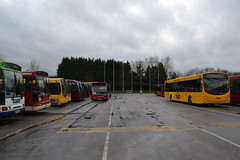 Trent Barton Langley Mill Depot (Will Swain) Tags: uk travel england bus english mill buses yard britain derbyshire garage transport shed january vehicles trent vehicle depot seen 24th langley nottinghamshire midland midlands 2016 bartons