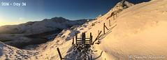 Snowdon gate (1 of 1) (simon ruszala) Tags: winter mountain lake snow simon wales sunrise gate unitedkingdom crib snowdon snowdonia beddgelert goch pygtrack ruszala