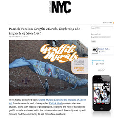 Interview with Patrick Verel, author of Graffiti Murals,,, on StreetArtNYC.org (LoisInWonderland) Tags: streetart jerseycity sage publicart muralart graffitimurals streetartnyc patrickverel sagecollective schifferpublishing