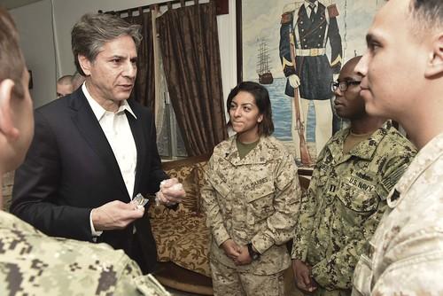 Deputy Secretary Blinken Meets With Service Members at Camp Lemonnier in Djibouti