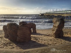 Rocky (Belinda Fewings (2.5 million views. Thank You)) Tags: street city winter colour building beach wet beautiful beauty architecture out outside outdoors seaside sand rocks waves arch arty artistic bokeh path stones sandy sunday creative depthoffield dorset colourful lovely february imogen bournemouth leading iphone the boscombe boscombepier beautify disappearingpoint southcoastofengland panasoniclumixdmc iphone6 pbwa creativeartphotograhy belindafewings stormimogen