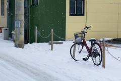 bike in snow (harryhsu111) Tags: street white snow bike japan canon streetphotography  hirosaki  canon70d