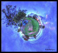 Pego do Altar [Planet] (Feiersinger) Tags: santa trees sunset panorama portugal clouds canon boat do barco purple little dam pano altar prdosol projection barragem planet nuvens wee susana 8mm alentejo 360x180 sal rvores pego planeta alccer 360 stereographic samyang alcovas 700d