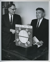 Dickinson Circle (Regional History Center & NIU Archives) Tags: circle photo newspaper illinois university day geometry 1966 pi math mathematics northern faculty niu invention trig trigonometry