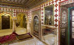 City Palace (1732), interior view05, Jaipur, Rajasthan, India (lumierefl) Tags: india building architecture furniture interior room royal mirrors palace government jaipur 18thcentury rajasthan dcor southasia mughal maharajah 1730s shilpasastra