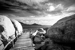 IMG_9083_edited-1BW (Lauren :o)) Tags: ocean sea sky blackandwhite beach monochrome clouds thailand island paradise dive diving kohtao turtleisland nangyuan desertisland diveresort nangyuanisland