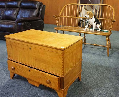 Tiger Maple Cedar Lined Blanket Chest - $231.00