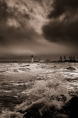 First day of summer 2 (another_scotsman) Tags: lighthouse seascape stormy mersey newbrighton perchrock
