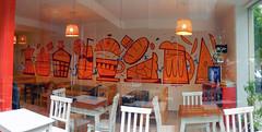 Panaderia (Oster ARG) Tags: panaderia pintura commissioned work bakery comercio modern jazz warm naranja trabajo oster graffiti