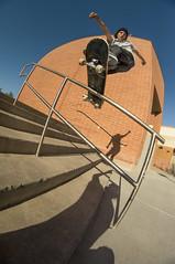 Jeremy Warren frontboard (memoryhousemag) Tags: arizona skateboarding fisheye handrail elmirage sonyalpha