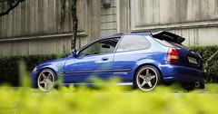 (arturbarrosautos) Tags: blue car japan azul race honda turbo civic ek tuning jdm enkei recaro vtec vti hondaclub ek4 ek9 kanjo jdmbrasil