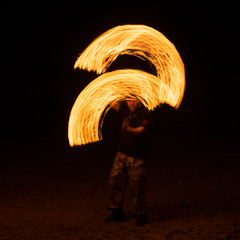 (Attila Pasek) Tags: night fire march event longexposuretime boscombe boscombepier 2015 boscombefireledjam