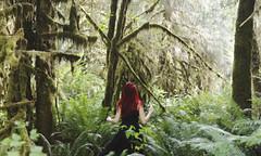 Lost In Wonderland (KaiaPieters) Tags: trees red green forest lost moss woods rainforest deer antlers ferns wonderland redhair