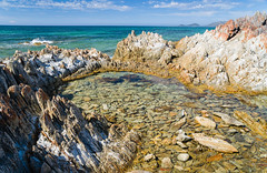 Rock pool (laurie.g.w) Tags: ocean water pool rock coast rocks shoreline australia tasmania coastline headland sescape