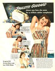 Paulette Goddard for Lux, 1941 (feldenchrist) Tags: paulettegoddard