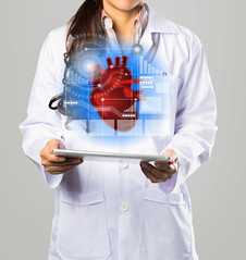 Doctor (Krunja) Tags: people test white chart male eye modern digital work computer person technology hand heart graphic tech symbol display background report touch interface graph screen professional medical health human doctor virtual diagram future button data push medicine network portal care press medic exam navigation stethoscope molecule caucasian cardiology cardiologist