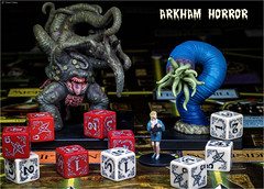 Arkham Horror (Robots are Stupid) Tags: dice game color macro monster danger toy toys nikon alone colours play geek fear evil gaming numbers cthulhu blonde horror d750 devil monsters nightmare colourful boardgame hplovecraft peril fright arkham fantasyflight fantasyflightgames arkhamhorror daisywalker daviddalley davidjdalley sigma105mmf28dgmacrohsm nikond750