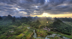 Cuiping sunset (ANOTHER DAY AT THE OFFICE) Tags: china sunset mountain nature freedom guilin yangshuo peaceful karst province guangxi cuiping