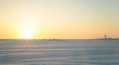 ABC_7814 (savillent) Tags: ocean morning sky sun snow canada cold ice sunrise landscape lost march harbor spring nikon northwest north arctic freeze climate territories daybreak 2016 dewline tuktoyaktuk savillent