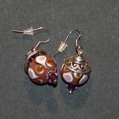 goutte (fabrikarine) Tags: fleur vintage collier bijoux plastic boucle fou cuivre doreille