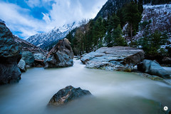 Silk route (adityarajmehta) Tags: snow water beautiful river landscape stream long exposure heaven paradise earth silk lee kashmir filters hdr breathtaking unbelievable sonmarg d810 nd1000