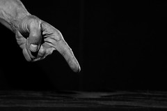 Finger pointing. (KireevI) Tags: men art sign hand message finger dirty stained human messy rough dictator pointing bizarre placard concepts unhygienic scolding