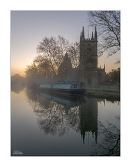 Parish Church of Saint Lawrence (JRTurnerPhotography) Tags: uk greatbritain travel trees england mist reflection building tree travelling church water grass fog architecture sunrise canon print landscape photography dawn countryside boat canal photo spring europe frost photographer image unitedkingdom britain religion picture tourist hungerford photograph gb british canon5d christianity berkshire barge narrowboat waterway canalboat hedges britishcountryside wideanglelens landscapephotography canalbarge westberkshire avonandkennetcanal jaketurner canon5dmarkiii jrturnerphotography canon1635mmf4lis parishchurchsaintlawrence