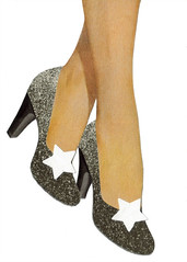 Star Shoes (dadadreams (Michelle Lanter)) Tags: collageart outerspace starshoes