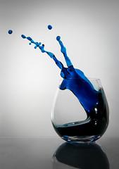 Blue Slug Escapes Glass! (Brandon_Hilder) Tags: flash splash wineglass studio nikon nikkor nikon247028 explore explored explorephotos d810 award best splashes liquid water highspeed glasses glassware cups glass stopmotion exploreaward glasss freeze freezeframe nikon2470mm 2470mm nikond810 public