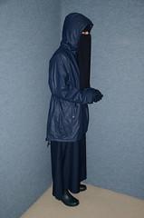 DSC_8823 (Buses,Trains and Fetish) Tags: winter girl warm coat hijab sweat fleece niqab raincoat anorak slave burka chador