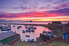 March sunset at Paddys Hole. (paul downing) Tags: sunset reflections boats spring nikon 12 filters boathouse hitech redcar gnd rivertees southgare paddyshole pd1001 pauldowning d7200 pauldowningphotography