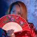 DSC_0277 Somali Lady Portrait Red Chinese Silk Mandarin Dress  Shoreditch Studio London