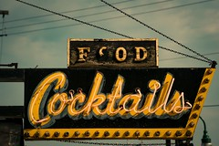 Food Cocktails (hartsaw) Tags: sign wisconsin bar vintage whitewater neon decay tavern signage cocktails minoltamaxxum35105