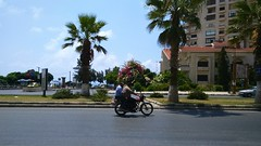 الكورنيش الجنوبي (nesreensahi) Tags: street trees cars nature landscape corniche syria siria سوريا syrie latakia اللاذقية سورية