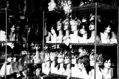 228/365 Egoiste! (darioseventy) Tags: blackandwhite bw shop reflections dummies bn wigs vetrina showcase riflessi bianconero manichini parrucche