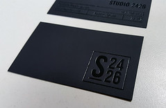 Black Foil Stamped Business Cards