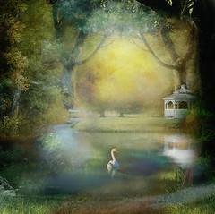 Entrance to my romantic world. (BirgittaSjostedt.) Tags: art texture fairytale forest paint outdoor surreal creation fantasy layers serene ie artdigital magicunicornverybest netartii birgittasjostedt