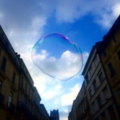 Think out of the bubble (Ananth Sathyanath) Tags: blue sky outside perfect think thoughtful floating bubble colourful iphone timing iphone5s