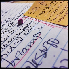 lists...listless... (oostumbleineoo) Tags: pink handwriting focus working repetition quarter housewife pill lists adderall 5mg