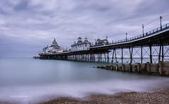Eastbourne Pier (pietkagab) Tags: uk longexposure greatbritain trip travel sea england photography evening coast pier pentax sightseeing eastbourne eastsussex k5 pentaxk5ii pietkagab piotrgaborek