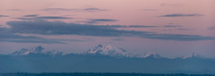 Sunset over Mountains (JustinMullenPhotography) Tags: pink blue sunset wild sky sun mountain mountains nature ferry clouds landscape outdoors island washington rocks natural wilderness whidbey