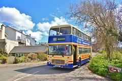 Preserved ex-Western National 1230 VTH924T - Perranuthnoe (South West Transport News) Tags: bristol vrt national preserved 1230 ecw perranuthnoe exwestern vth924t