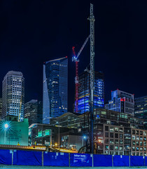 balfor beatty (pbo31) Tags: sanfrancisco california city urban panorama black color tower architecture night dark spring construction nikon crane large panoramic structure bayarea april salesforce stitched beatty 2016 boury pbo31 d810 financialdistrictsouth balfor