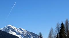 (Cristina Birri) Tags: blue winter sky snow mountains alberi montagne blu cielo neve inverno carnia aereo dolomiti friuli udine scia fornidisopra